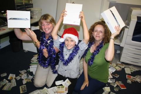 WINNERS: Win Santas iPads