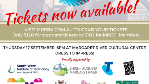 Tickets Now Available – ANZ Margaret River Region Business Awards 2015