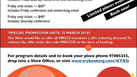 20% off bookings for MRCCI Members!